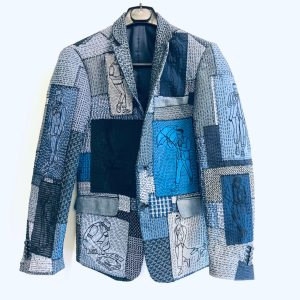 tailored patchwork embroidered jacket