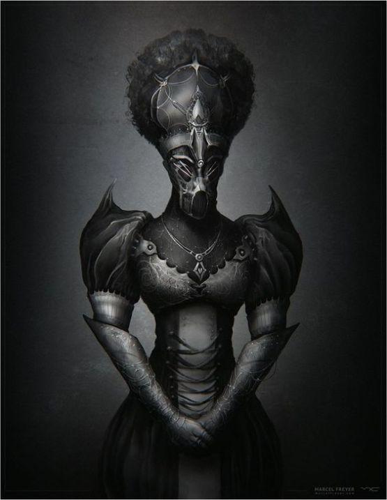 steampunk black queen