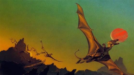 Michael Whelan cover for Dragonflight
