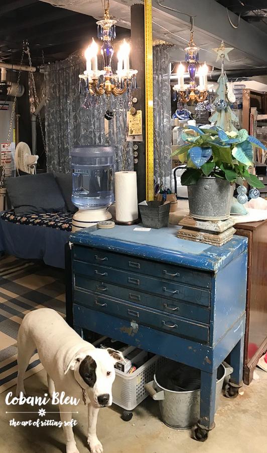 She Shop Chippy Blue Cabinet