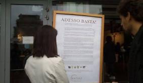 MIlano - il manifesto affisso da Eataly