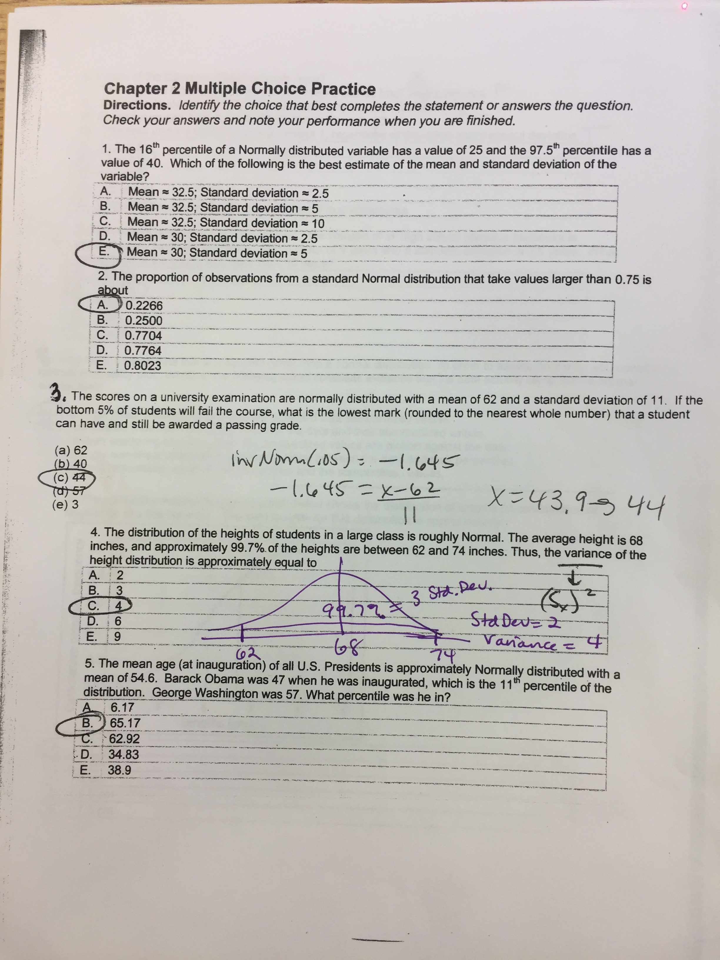 Ap Stat Worksheet X2