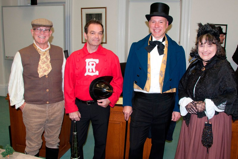 Before the Re-enactment.  Brian Darling; Mike Vilneff; Dean Hustwick; Suzanne Seguin