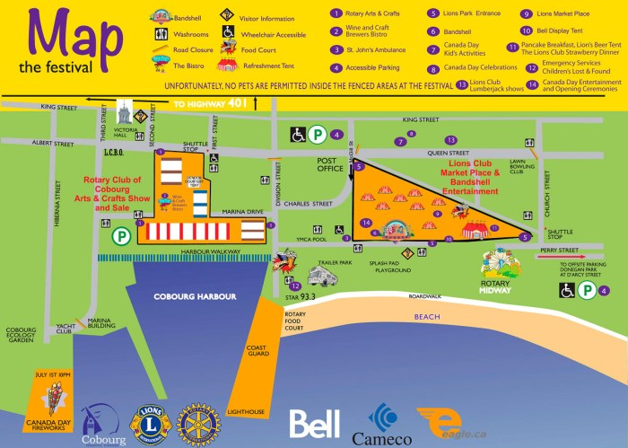 Waterfront Festival Map 2018