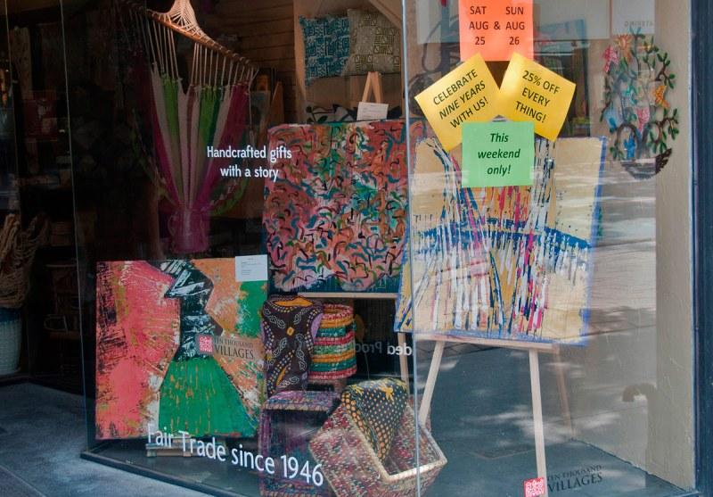 Art Walk - Ten Thousand Villages - Art in window