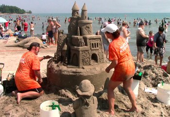 One of the many sandcastles