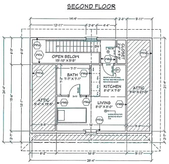 513 George Street - floor plan