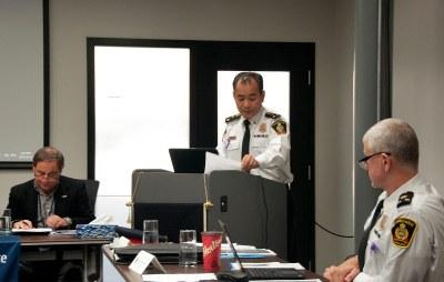 Chair Dean Pepper; Chief Kai Liu; Deputy Chief Paul VandeGraaf