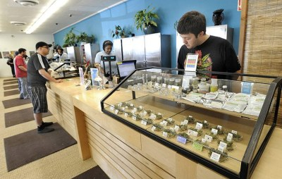 Typical Cannabis store
