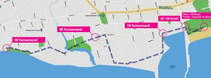 Reindeer Run Walk Route Map