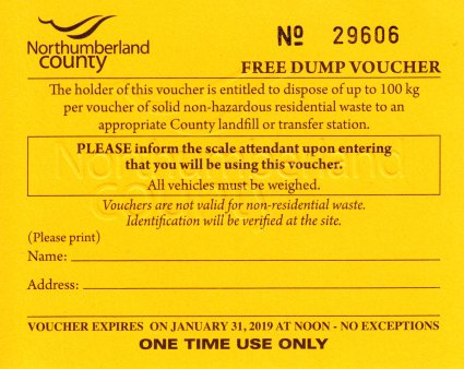 Bulky Waste Voucher