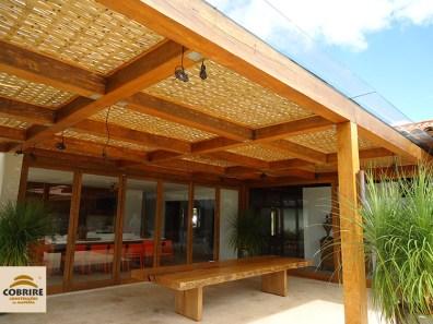 forro esteira treliça bambu tratado bamboo pergolado pergola caramanchão cobertura coberto teto preço modelos Campinas Vinhedo Paulínia Indaiatuba