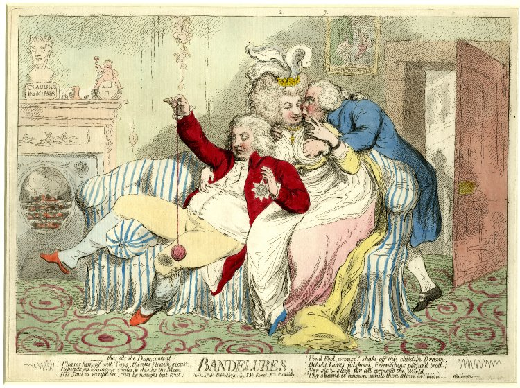 principe de gales-yoyo James Gillray, bandelures, 1791