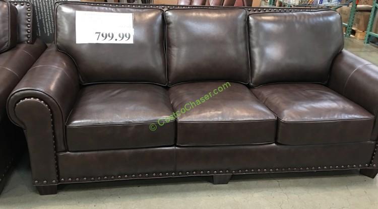 adalyn home leather sofa costcochaser