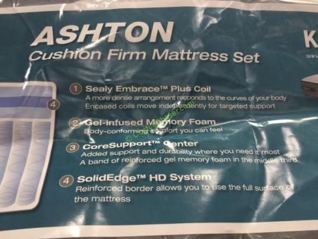 Sealy Posturepedic Ashton Cushion Firm King Mattress Set