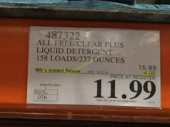 costco-487322-all-free-clear-plus-liquid-detergent-tag