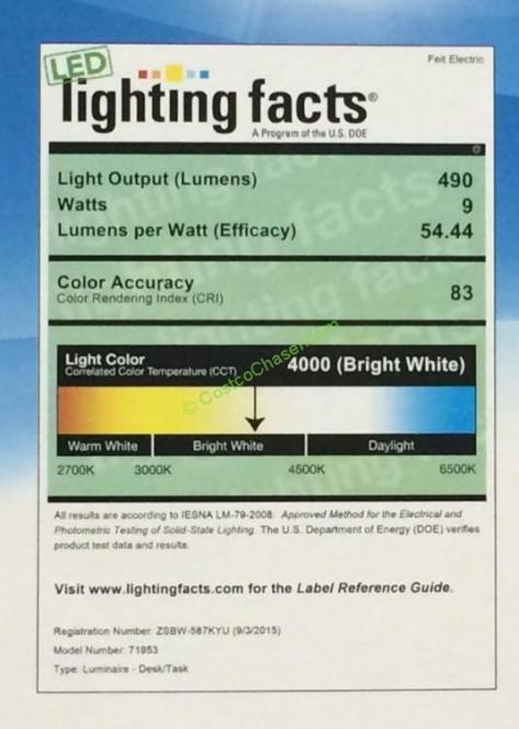 Costco Feit Led Patio Lights: Feit Electric LED Desk Lamp With 4 Step Dimming