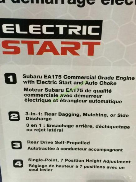 Powerstroke 21 Lawn Mower Subaru Engine Costcochaser