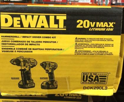 Dewalt 20v Max Li Ion Hammer Drill Amp Drill Driver Model