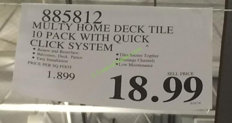 costco 885812 multy home deck tile