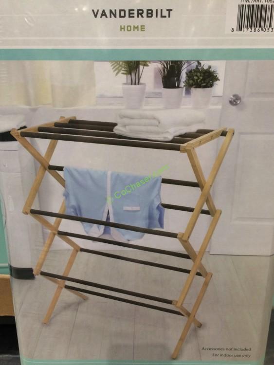 vanderbilt folding drying rack bamboo