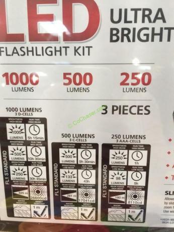 Costco-917951-Feit-LED-Flashlight-Kit-1000-Lumen-spec1