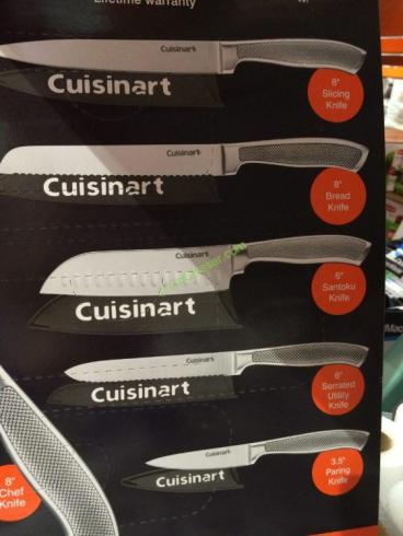 Cuisinart Graphix Knife Set Stainless Steel 6pc Costcochaser
