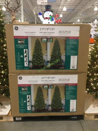 Costco-999095-GE-9FTPre-LitLED-Dual-Color-Christmas-Tree-all