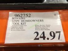 Costco-962752-Bonaire-125PC-Homeowners-Tool-Kit-tag