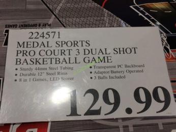 Md Sports Pro Court 3 Dual Shot Basketball Game Costcochaser