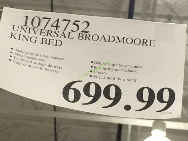 Universal Broadmoore Storage Bed Queen Or King CostcoChaser