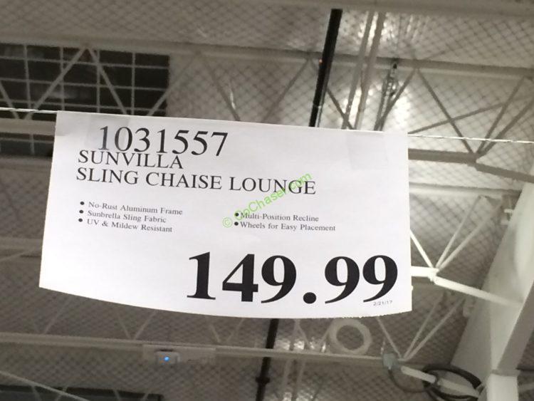 Sunvilla International Sling Chaise Lounge CostcoChaser