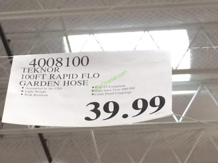 Teknor 100 Ft Rapid Flo Garden Hose Costcochaser