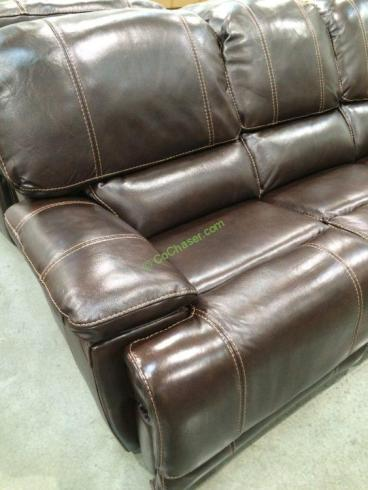 Leather Power Reclining Sofa Costcochaser