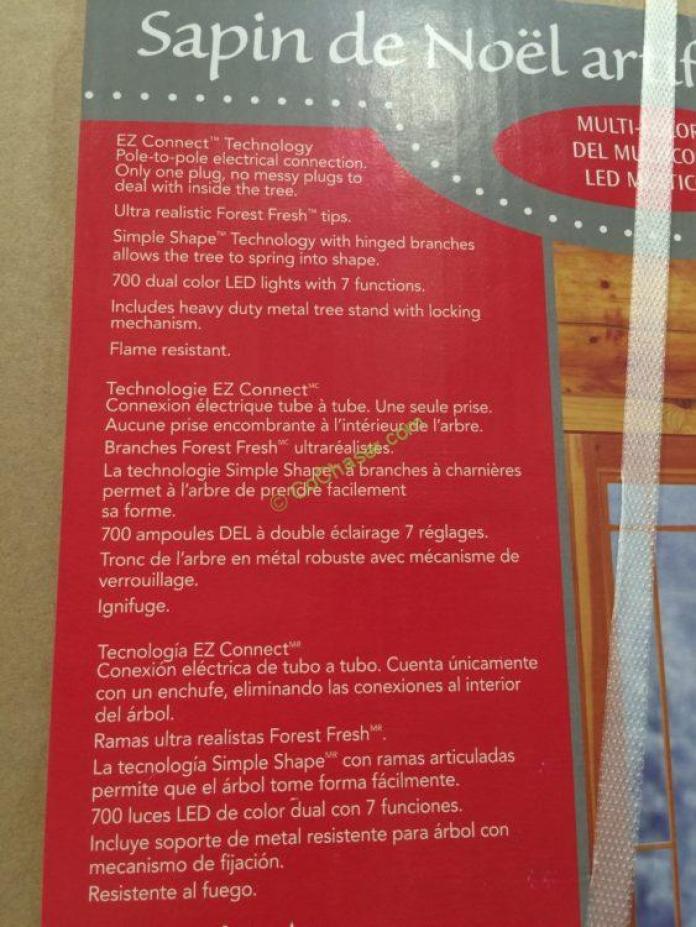 Costco-1455657-Pre-Lit-LE- EZ-Connect-Dual-Color-Christmas-Tree-spec