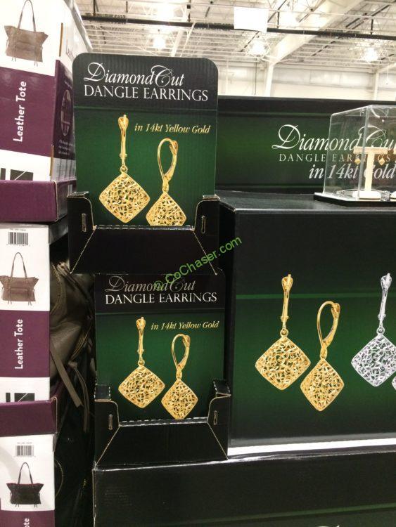 14kt Yellow Gold Diamond Cut Dangle Earrings – CostcoChaser | 563 x 750 jpeg 68kB