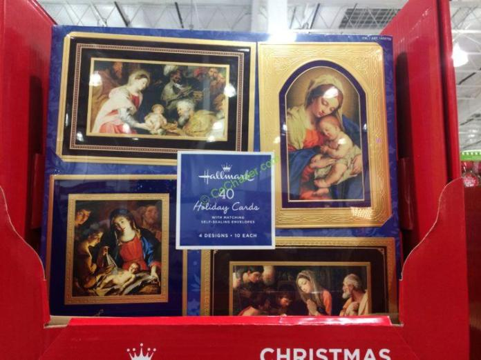 costco 1456756 hallmark christmas cards 40 count - Costco Christmas Photo Cards