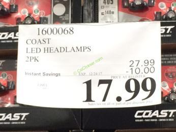 Costco-1600068-Coast-LED-Headlamps-2PK-tag