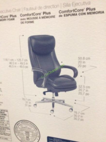 La Z Boy Leather Executive Office Chair Model 49198