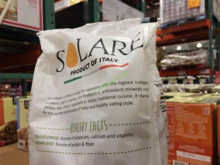 Solare Organic Brown Rice And Cauliflower 2 2 Pounds