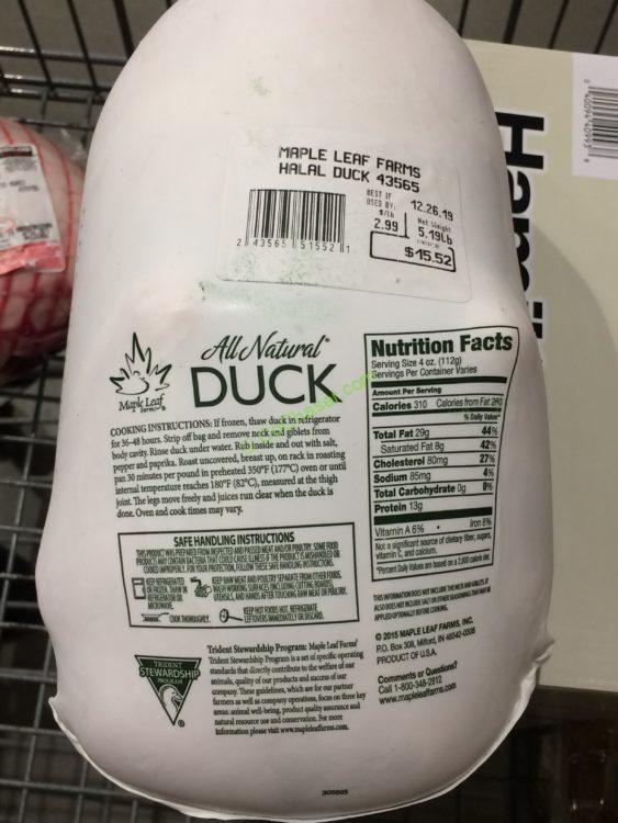 Maple Leaf Duck Halal | Jidileaf co