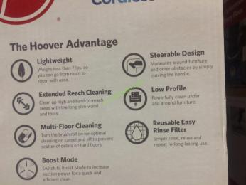 Hoover Cruise Multi Floor Cordless Ultra Light Vacuum