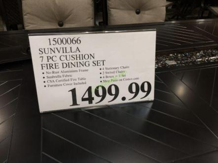 Costco-1500066-Sunvilla-7PC-Cushion-Fire-Dining-Set-tag