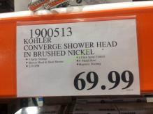 Costco-1900513- Kohler-Converge-Shower-Head -in-Brushed-Nickel-tag
