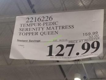 Serenity By Tempur Pedic Mattress Topper Queen Or King