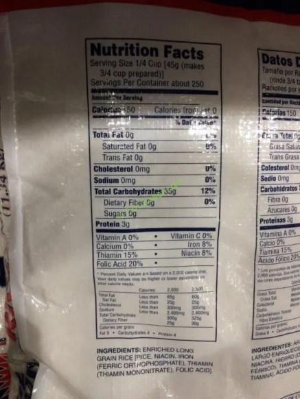 Costco-145588-Blue-Ribbon-Long-Grain-Rice-chart