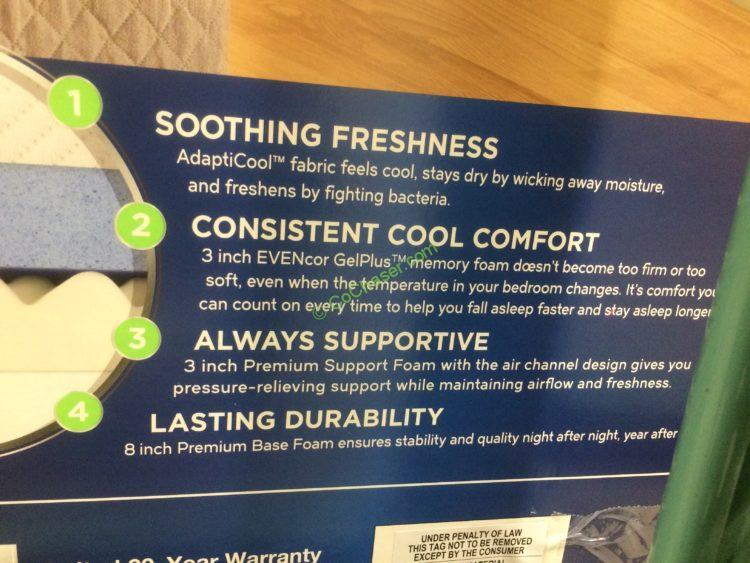 Novaform Comfortgrande With Evencor King Mattress Costcochaser