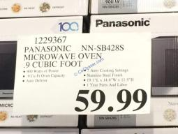Costco-1229367- Panasonic-NN-SB428S-Microwave-Oven-0.9-Cubic-Foot-tag