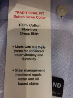 Costco-1110810- Kirkland-Signature-Men-Button-Down-Dress-Shirt-spec1