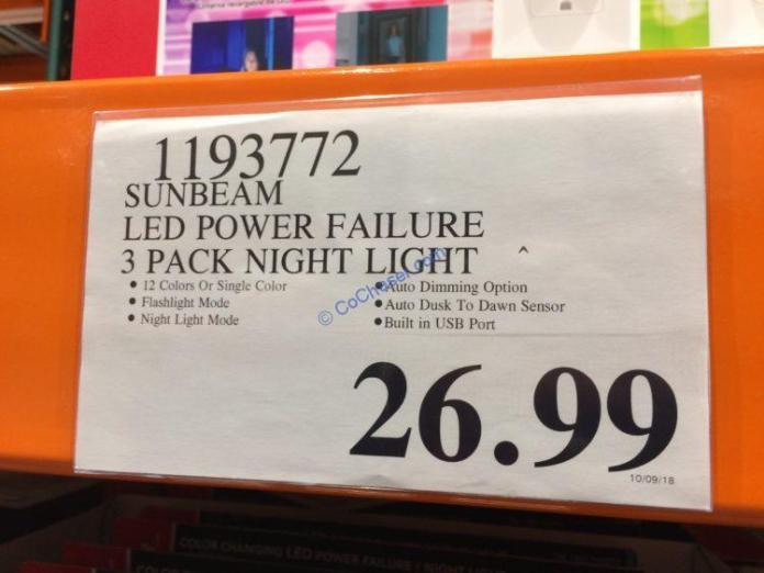 Costco-1193772-Sunbeam-3Pack-LED-Power-Failure-Night-Light-tag
